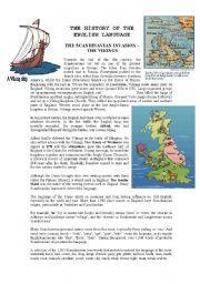 English Worksheet: History of the English language - The Vikings