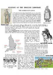 English Worksheet: History of the English language - The Norman invasion