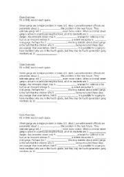 English worksheet: Cloze Exercise