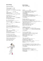 English Worksheets: Elvis Presley songs 1