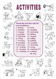 English Worksheets: Activities (1 of  2)