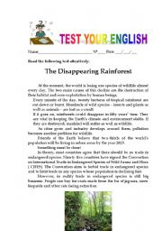 English Worksheet: Test Your English-