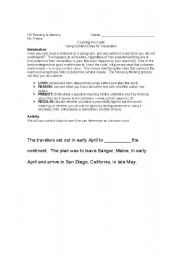 English Worksheet: Context Clues