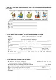 English Worksheets: The Past