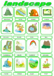 English Worksheet: LANDSCAPE