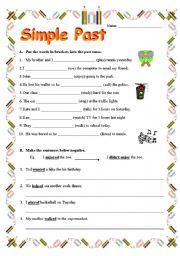 Simple Past Tense - worksheet by rennayf