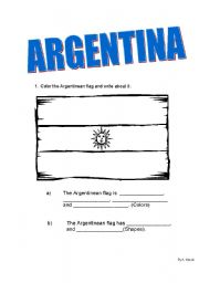 English Worksheet: ARGENTINA - Guided Writing