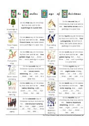 worksheet: The Twelve Days of Christmas