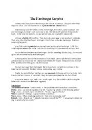 English Worksheet: Hamburger