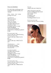 English Worksheets: No one, by Alicia Keys