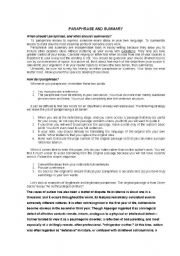 English Worksheets: Paraphrase