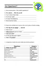 English Worksheets: any questions?
