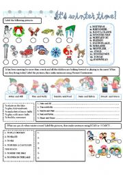 English Worksheets: IT�S WINTER TIME!