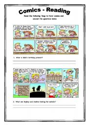 English Worksheet: Comics - Reading Activity 3