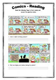 English Worksheets: Comics - Reading Activity 3