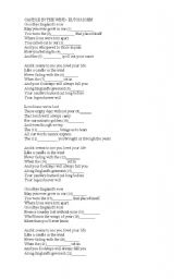 English Worksheets: CANDLE IN THE WIND- ELTON JOHN worksheet for group B
