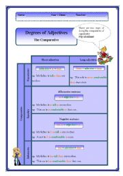 English Worksheet: The Degree of Adjectives