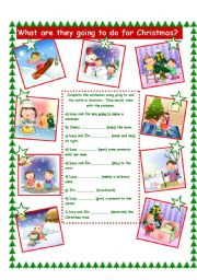 English Worksheet: Christmas/Going to!