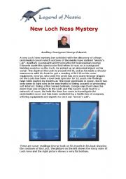 English Worksheet: Loch Ness worksheet