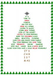 ESL kids worksheets: Christmas tree