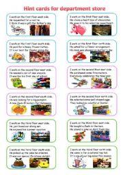 shopping on worksheet 2/2