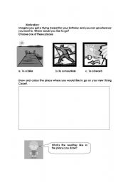 What´s the weather like in... ? Reading comprehension Part 1