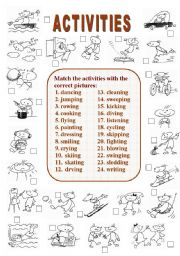 English Worksheets: Activities (2 of  2)