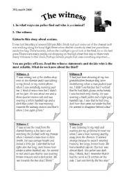 English Worksheets: Witness to a crime