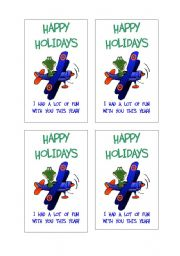 English Worksheets: Happy Holiday Cards
