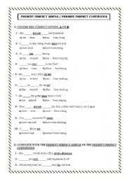 English worksheets: present perfect /present perfect continuous ...