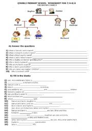 Printables Family Tree Worksheet Printable english teaching worksheets family tree my tree