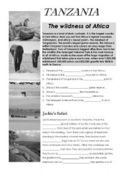 English Worksheet: Tanzania - CLIL  comparison
