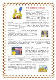 English Worksheet: The Simpsons in Brazil