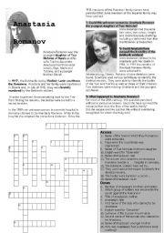 English Worksheets: Anastasia Romanov