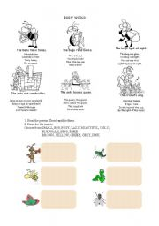 English Worksheets: insects