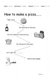 English teaching worksheets: Pizza