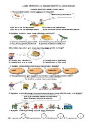 English Worksheet: TEST FOR 6TH GRADE (2008-2009,1.TERM 2. EXAM)(A)