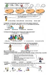 English Worksheet: TEST FOR 6TH GRADE (2008-2009,1.TERM 2. EXAM) (B)