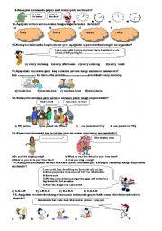 TEST FOR 6TH GRADE (2008-2009,1.TERM 2. EXAM) (B)