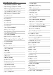 English Worksheets: Giving general information