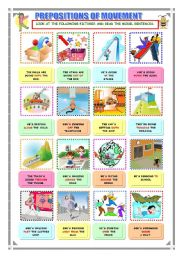 English Worksheets: Prepositions of movement