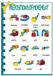 Preposition of movement