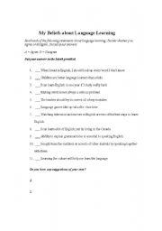 English worksheet: Learning Strategies