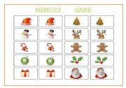 English Worksheets: X�MAS MEMORY GAME