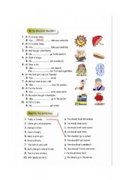 English Worksheet: should-shouldn´t