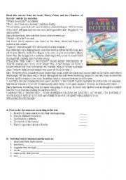 English Worksheets: Harry Potter