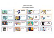 English Worksheets: Compound  nouns ,  domino game