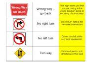 English Worksheet: Driving Road Signs