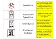 English Worksheet: Driving ROAD SIGNS Part FOUR