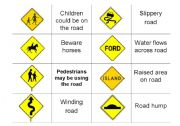 English Worksheet: Driving ROAD SIGNS Part SIX